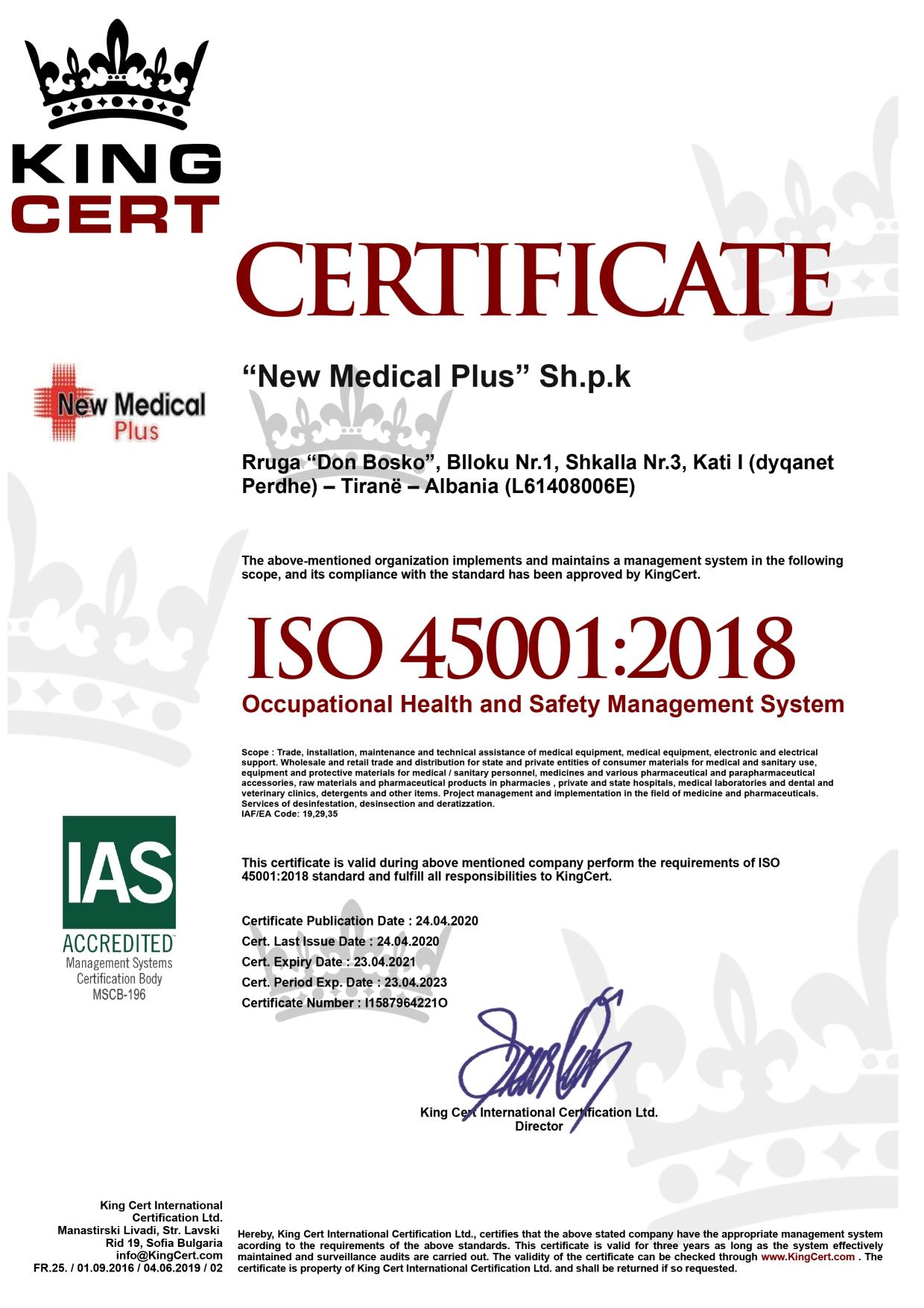 NEW MEDICAL PLUS WEBSITE CERTIFIKATA 10