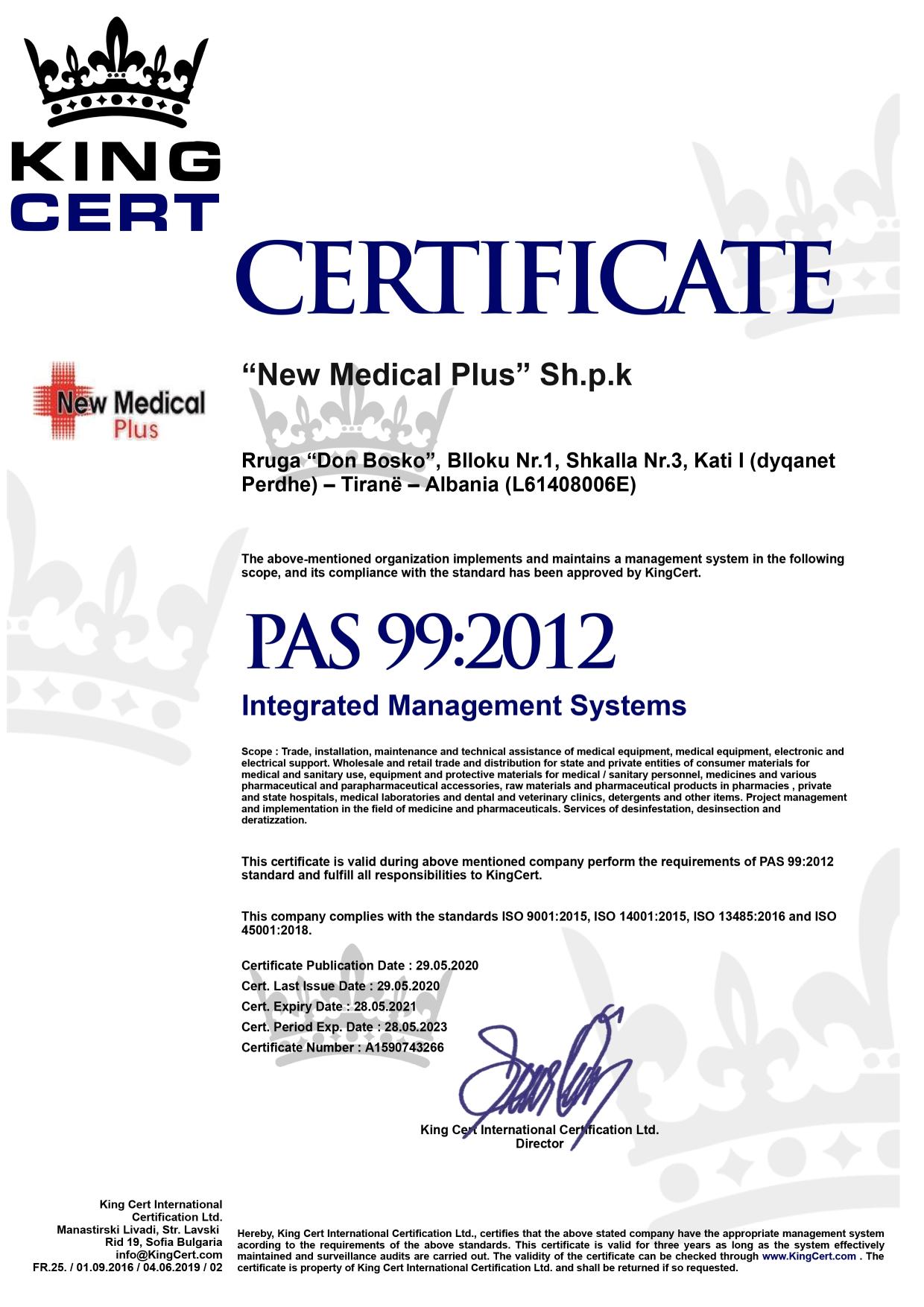 NEW MEDICAL PLUS WEBSITE CERTIFIKATA 3
