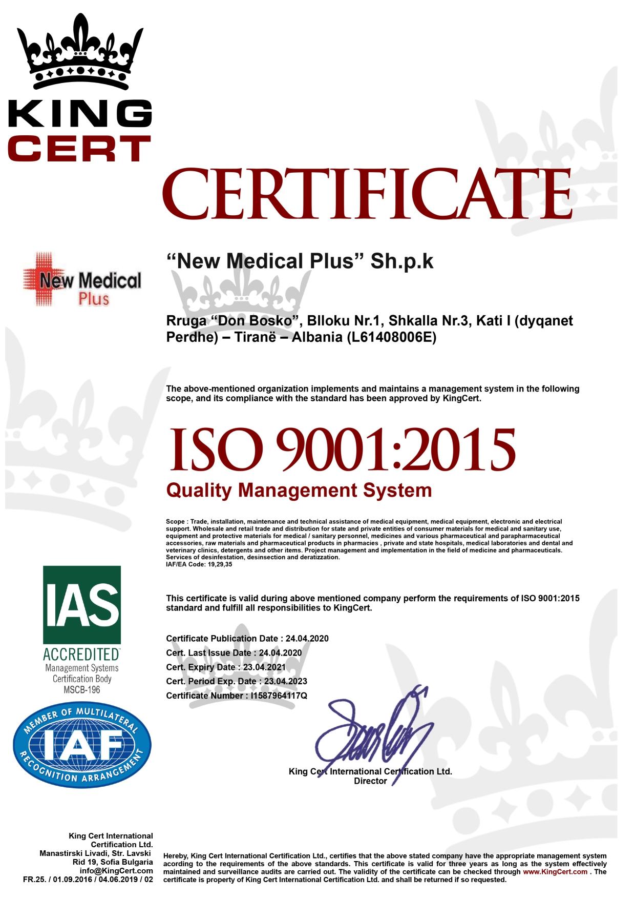 NEW MEDICAL PLUS WEBSITE CERTIFIKATA 5