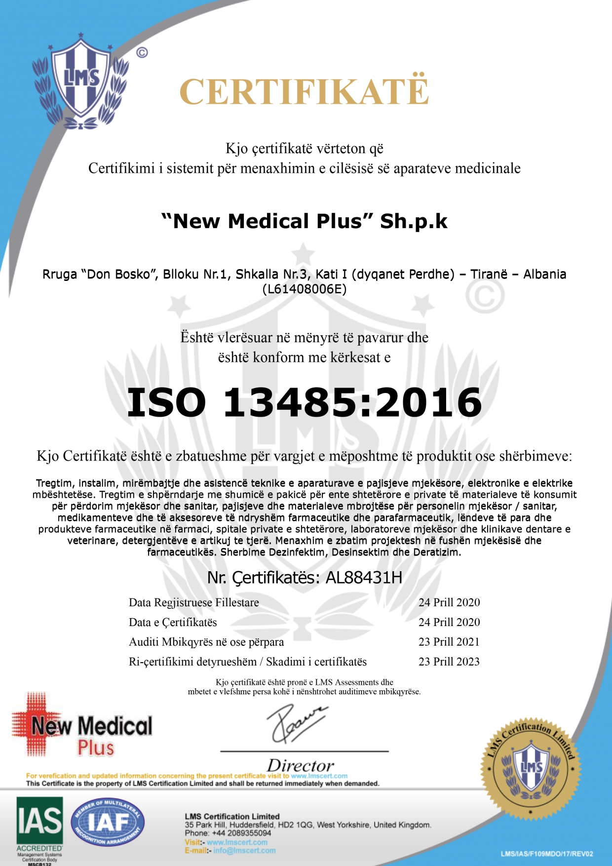 NEW MEDICAL PLUS WEBSITE CERTIFIKATA 6