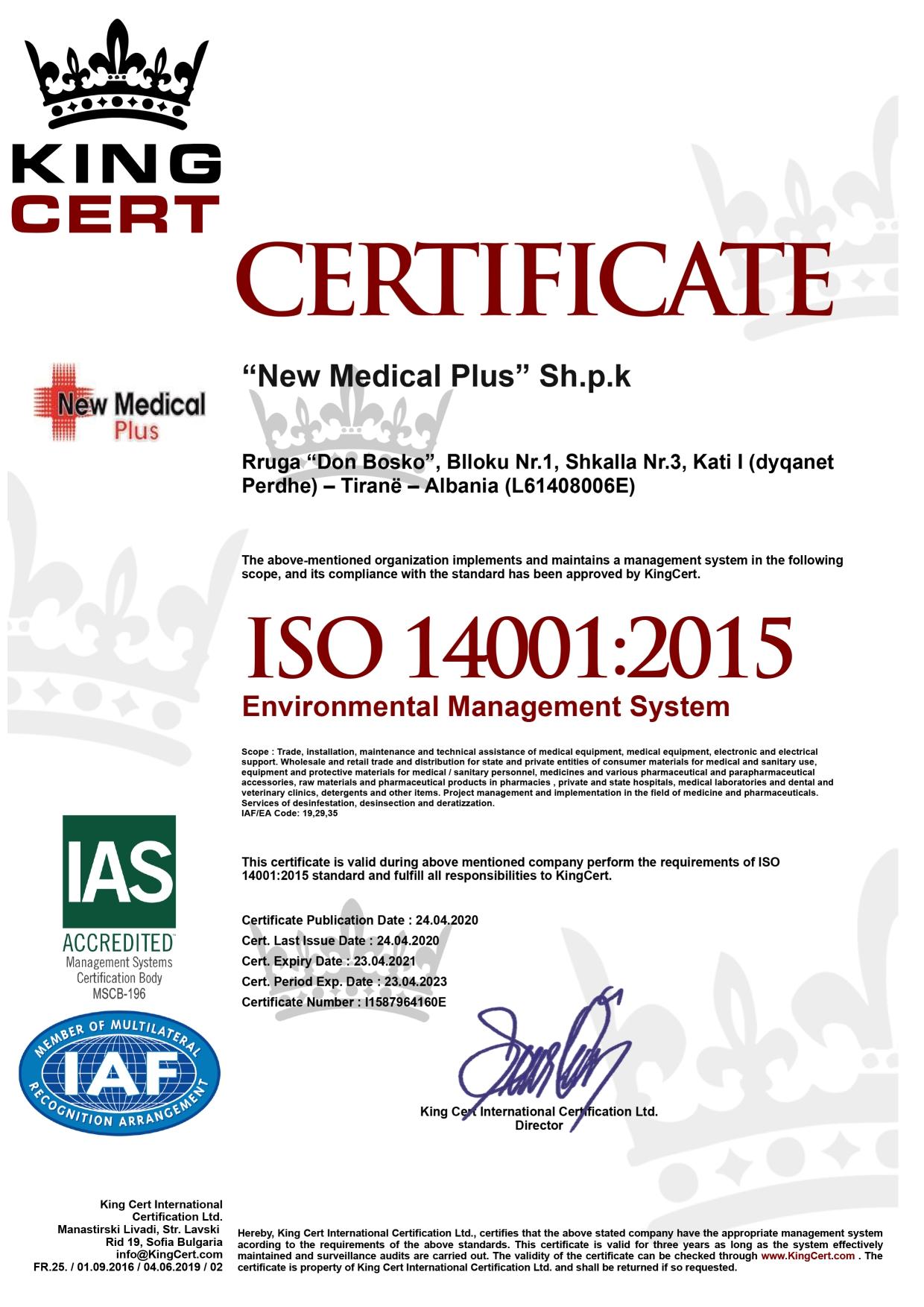 NEW MEDICAL PLUS WEBSITE CERTIFIKATA 8