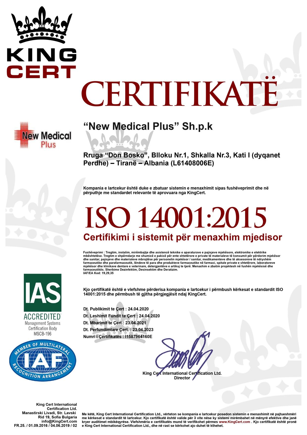 NEW MEDICAL PLUS WEBSITE CERTIFIKATA 9